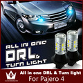 Guang Dian daytime running lights with turn signal light DRL with turn signal T20 wy21w indicators Load Resistor For Pajero 4