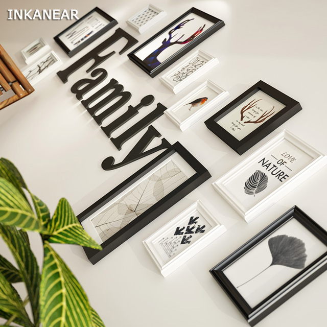 Solid Wood Modern Large Picture Frames Big Size Wooden Letter ...