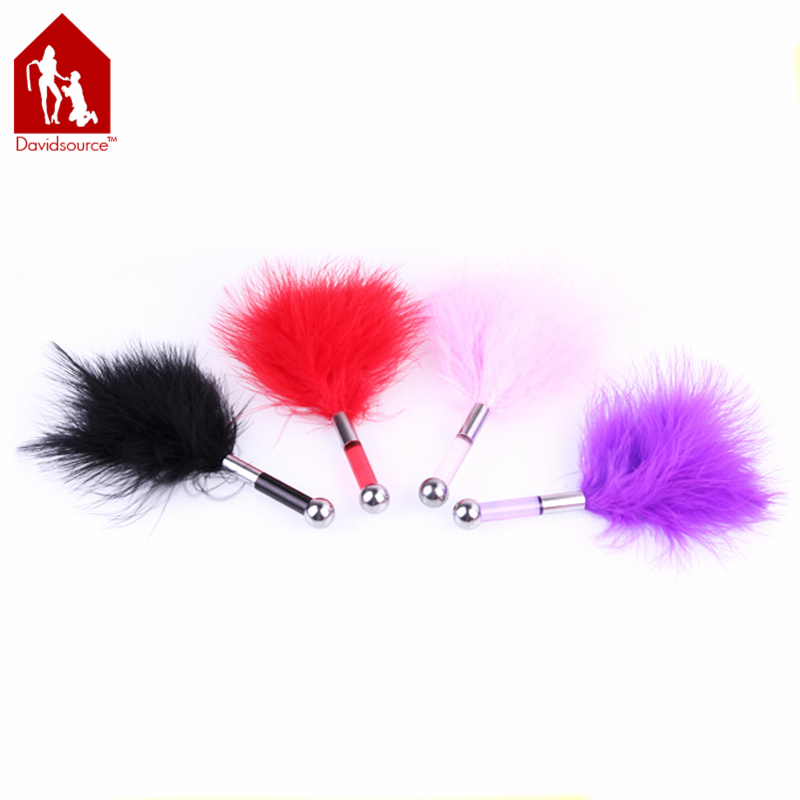 Davidsource 18Cm06 Black    Pink Pink Red Feather Butt Plug Whip   Spanking Spanking Sub Slave Kinky Fetish Torture Gear -7327