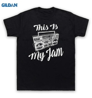 GILDAN 100 Cotton O Neck Printed T Shirt This Is My Jam T Shirt Music Slogan