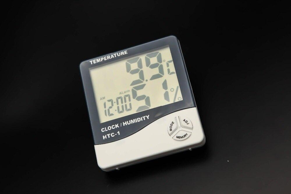 Digital Lcd Temperatur Und Feuchtigkeit Meter Uhr Alarm Office & School Supplies
