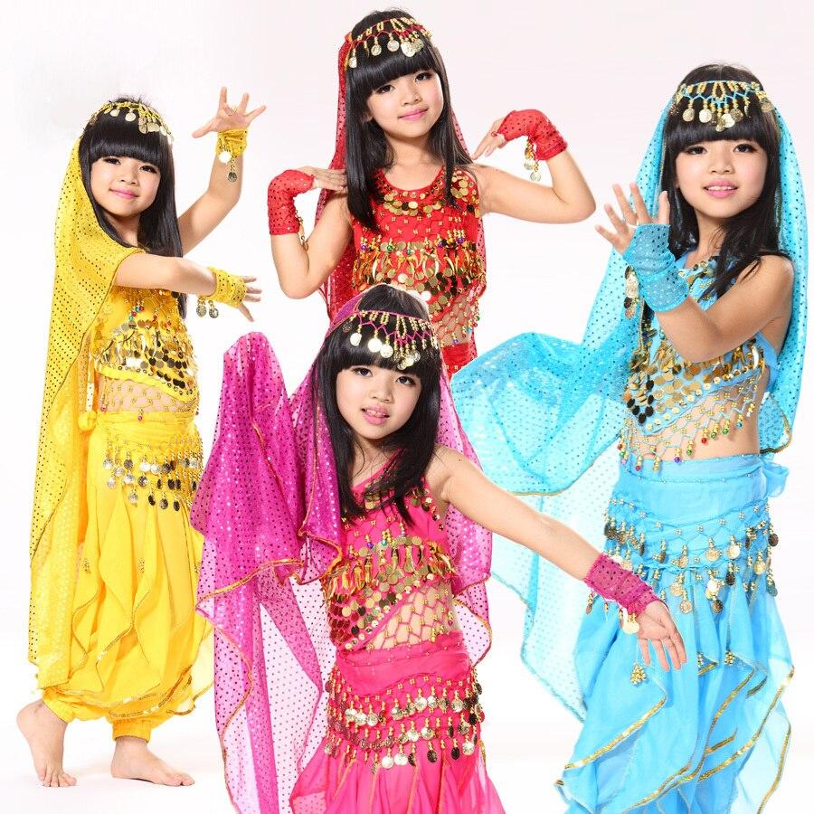 Ropa india de la danza establece para las niñas Sari Sari