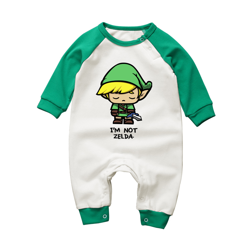 2017 Fashion Cartoon 3-18M Baby   Romper   Long Sleeve Baby Girls Clothing The Legend of Zelda Newborn Boys Clothes Cotton Jumpsuits