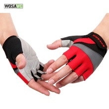 WOSAWE Cycling Gloves Half Finger Ciclismo Bike Gloves Bicycle Biking Gloves MTB Mountain Camping Hiking Outdoor