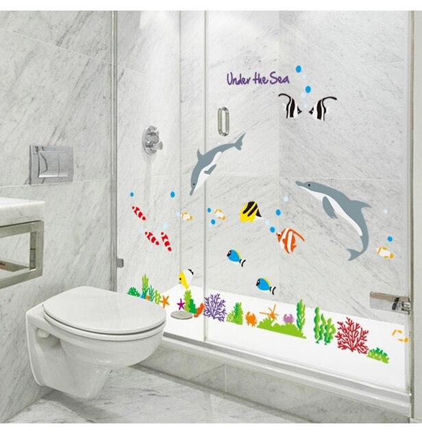 eco removable tahan air stiker dinding untuk kamar mandi dekorasi