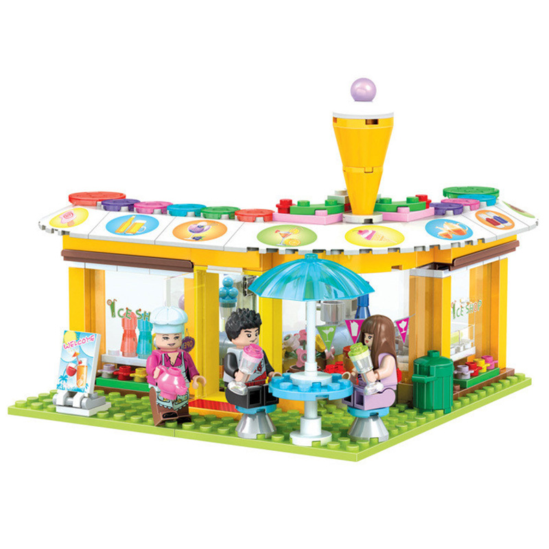 City Friends Series City Park Cafe Cold Stores Model Building Blocks Set Winner 7031 251pcs Compatible Legoedly Toy for Girls 2016 bela 10497 10496 10493 girls friends city park cafe building blocks set figures bricks toys 41119