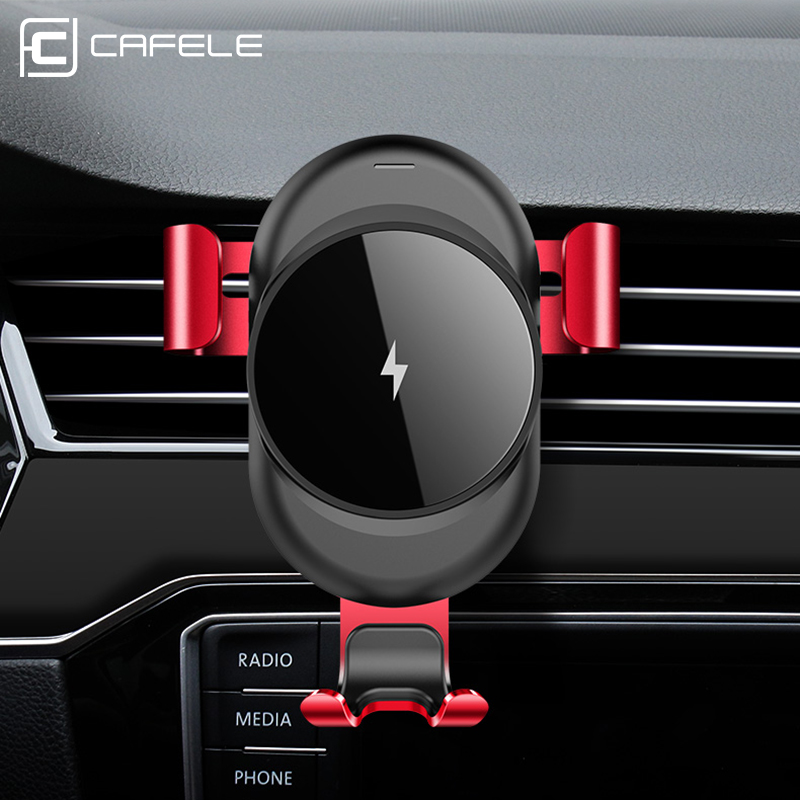 Cafele Car Holder Wireless Charger for iPhone X 8 Plus Fast Charge Wireless Charging Pad Car Holder Stand for Samsung S9 S8