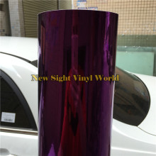 Best Quality Flexible Violet Chrome Purple Vinyl Car Wrap Foil Bubble Free Size:1.52*20M/Roll (5ft x 65ft)