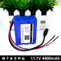 4400mAh DC Plug Super Rechargeable lithium ion battery 12v Battery Pack For 18650 2200mAh*6