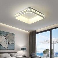 Moderne Led Decke Lichter Für schlafzimmer Studie gang küche Kristall glanz Quadrat dreieck Runde Home Dekoration Decke Lampe|Deckenleuchten|Licht & Beleuchtung -