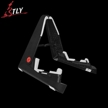 AROMA Foldable ABS Guitar Stand Space-saving A-frame Holder Bracket Mount for Acoustic Electric Guitar Bass Stringed Instruments