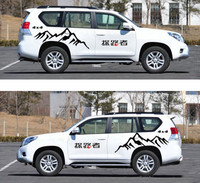 A Set 4X4 Pathfinder Car Body Side Skirts PVC Sticker Sports Racing Decals Decoration