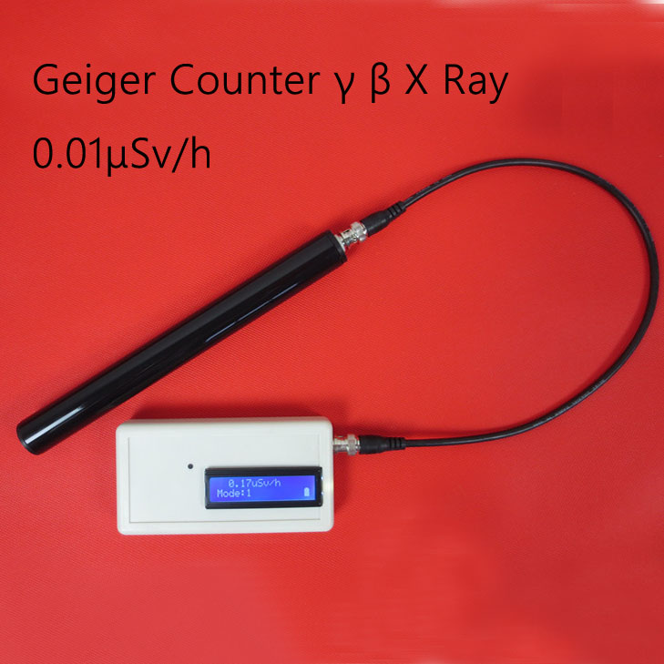 Portable Handle Geiger Counter GMJ3 Assembled Nuclear Radiation Detector With Miller GM Tube Gamma Beta X Ray