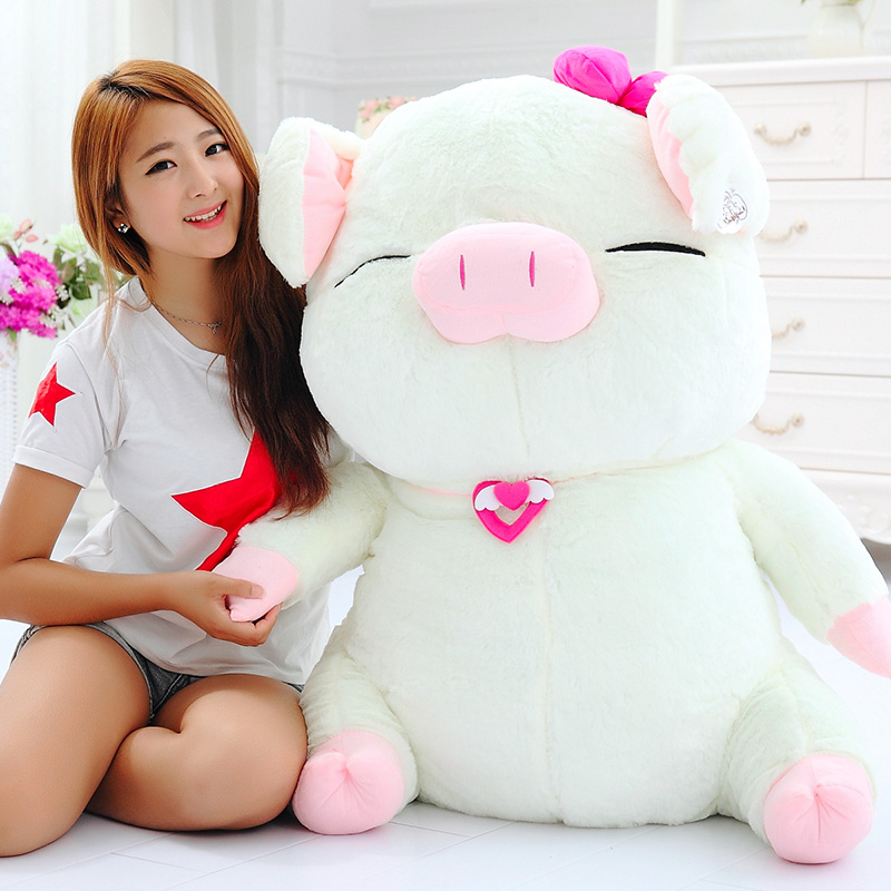 stuffed toy large 80cm cartoon pig doll ,soft plush toy,throw pillow home decoration birthday gift h2846 large 90cm cartoon pink prone pig plush toy very soft doll throw pillow birthday gift b2097