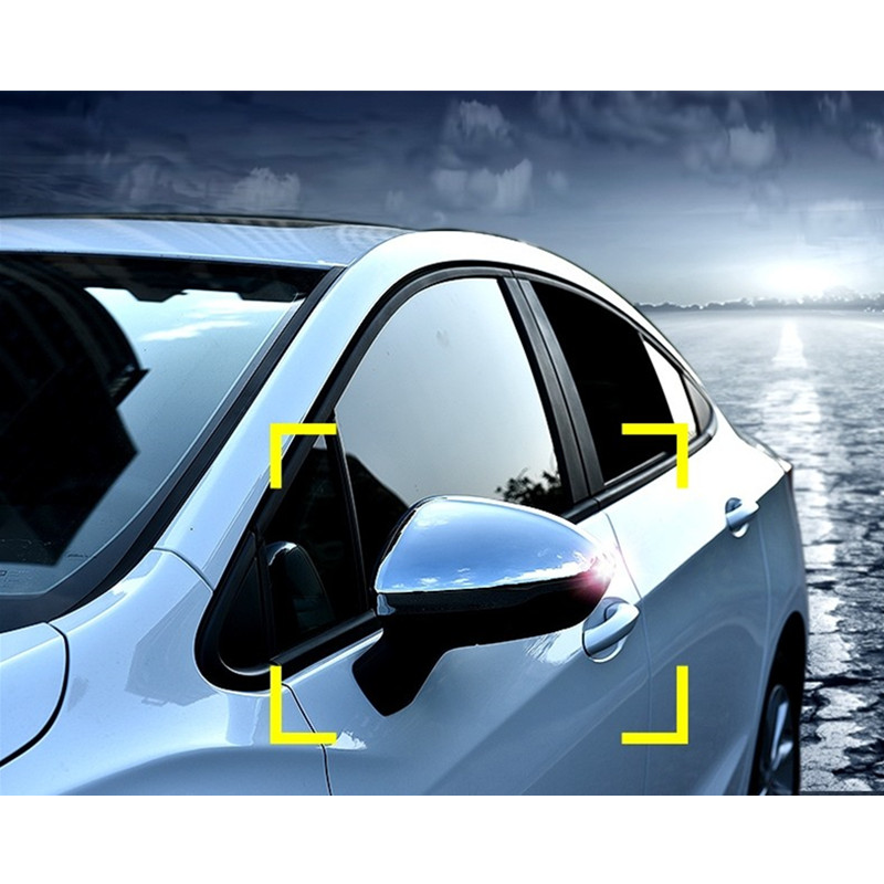 ABS chrome side wing fender rearview mirror sticker trim for Chevrolet Cruze 2016 2017