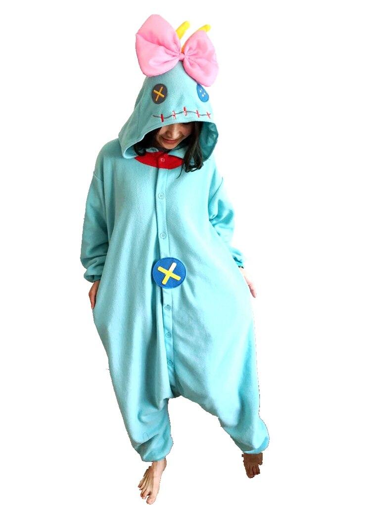 00f5f03db New Animal Cosplay Costume Winter Warm Adult Cute Lilo Stitch Scrump ...