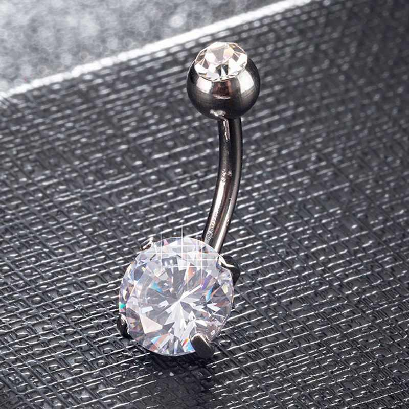 เซ็กซี่บาร์แหวนหน้าท้อง Belly Piercing คริสตัลคริสตัล CZ Rhinestone เครื่องประดับ Piercing piercing Drop Shipping