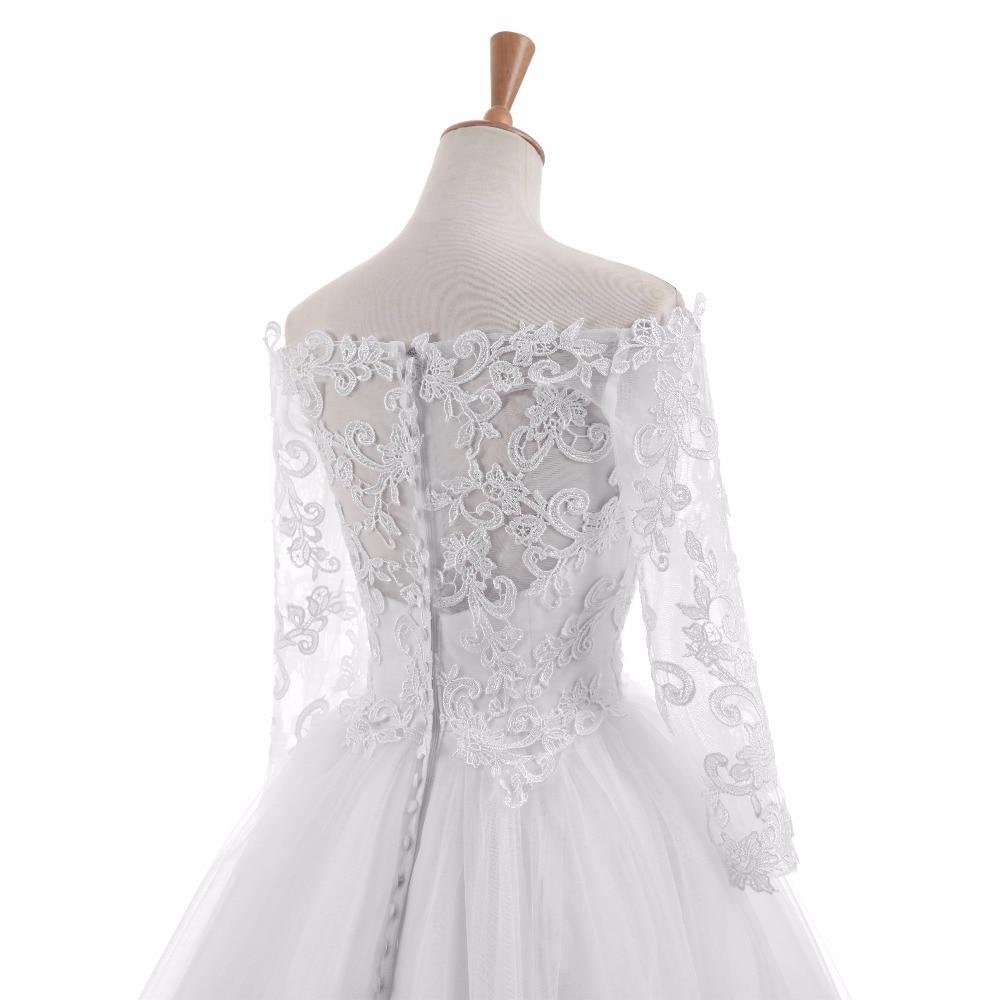 Elegantní Vestido De Novia Vintage bílé plesové šaty svatební - Svatební šaty - Fotografie 6