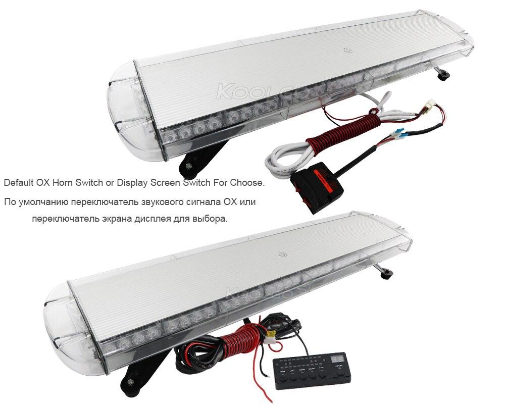 "KOOLGO Amber 72 LED Light Bar Car Truck Towing Strobe Flash Traffic Emergency Warning LightBar Beacon 12 24V Yellow 38""-in Signal Lamp from Automobiles & Motorcycles    3"