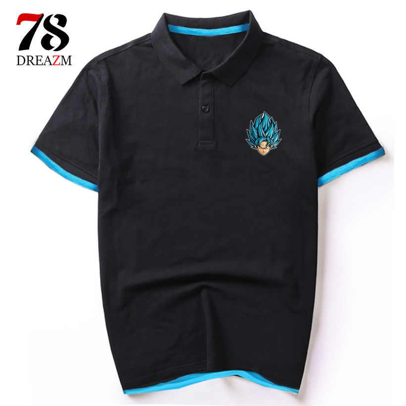 Dragon Ball футболка Для мужчин лето Dragon Ball Z Супер сын Гоку забавная футболка Косплэй аниме Вегета DragonBall рубашка мужской футболки