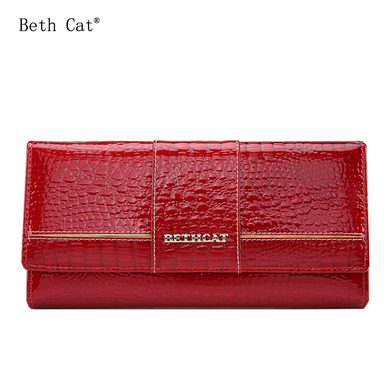 BethCat Women Wallets Long Wallets Fashion Wallet Women Genuine Leather Wallet Female Patchwork Womens Purse Coin Purses Holders майка versace versace versace 37698294we