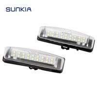 2pcs Set SUNKIA Car LED License Plate Lights 12V Number Plate Lamp No Error For Lexus