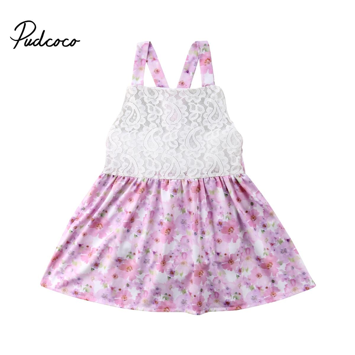 0-24 Mt Neugeborenen Baby Mädchen Ärmellose Spitze Blumen Tutu Prinzessin Boho Sommer Kleid Sommerkleid Kleidung Mild And Mellow