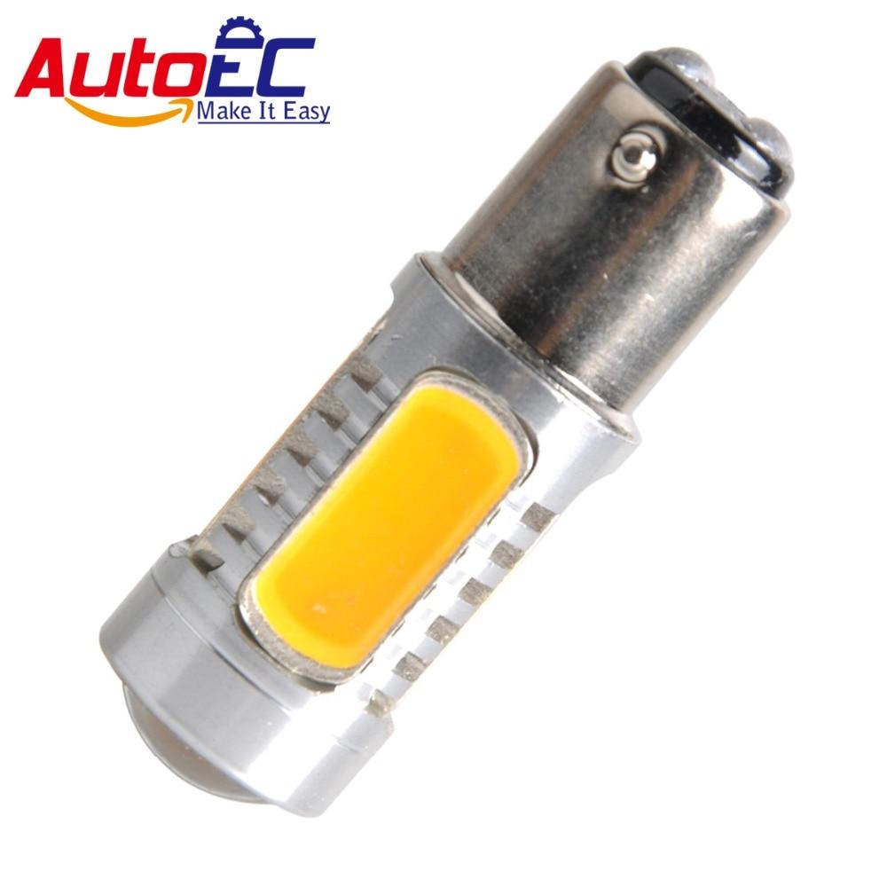 AutoEC 2x High Power 7.5W amber 1156 7506 COB LED Bulbs Turn Signal LED Bulbs Backup Light Turn Signal Light DC12v #LF76