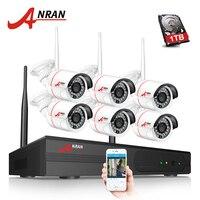 ANRAN 960P HD 8CH NVR Surveillance Kit 6pcs 24 IR Mini Bullet Outdoor 1.3 MP Wireless IP Camera CCTV Video System Hard Disk