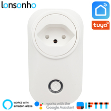 Lonsonho Smart Plug Wifi Socket Swiss CH Switzerland 16A Power Monitor Tuya Life App Works With Alexa Google Home