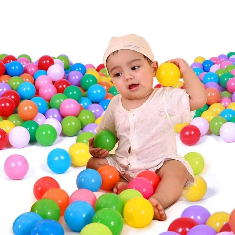 25 個/50 個/100 ピース/ロットカラフルなソフトプラスチックオーシャン水プールボールアウトドアスポーツボールゲーム PlayingFunny 赤ちゃんボールベビーキッズスイムピットおもちゃ