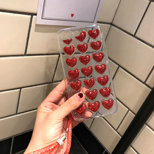 Glitter Love Heart 3D Back Cover for iPhone 8 7 6S 6 7 8 Plus