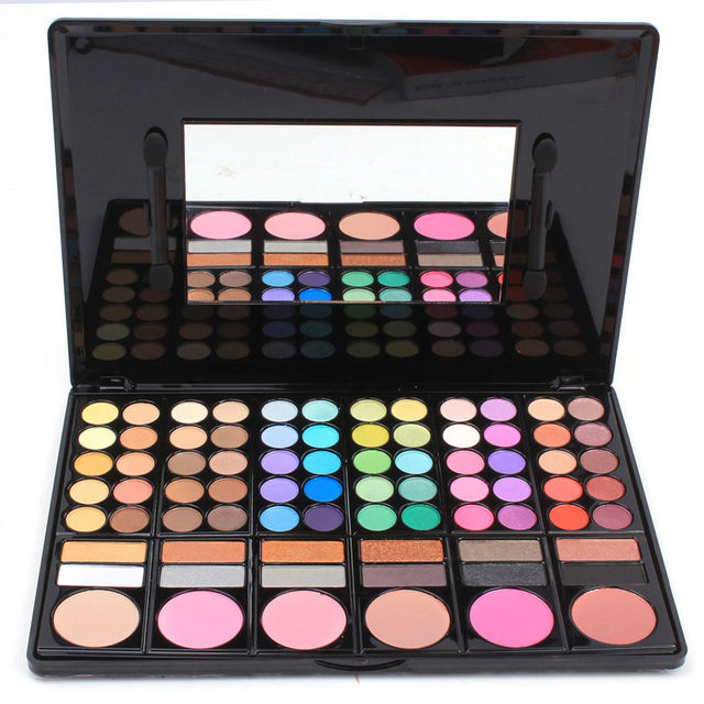 Maquillaje Kit Set 60 colores de sombra de ojos paleta pintalabios maquillaje colorete maquillaje herramienta pincel