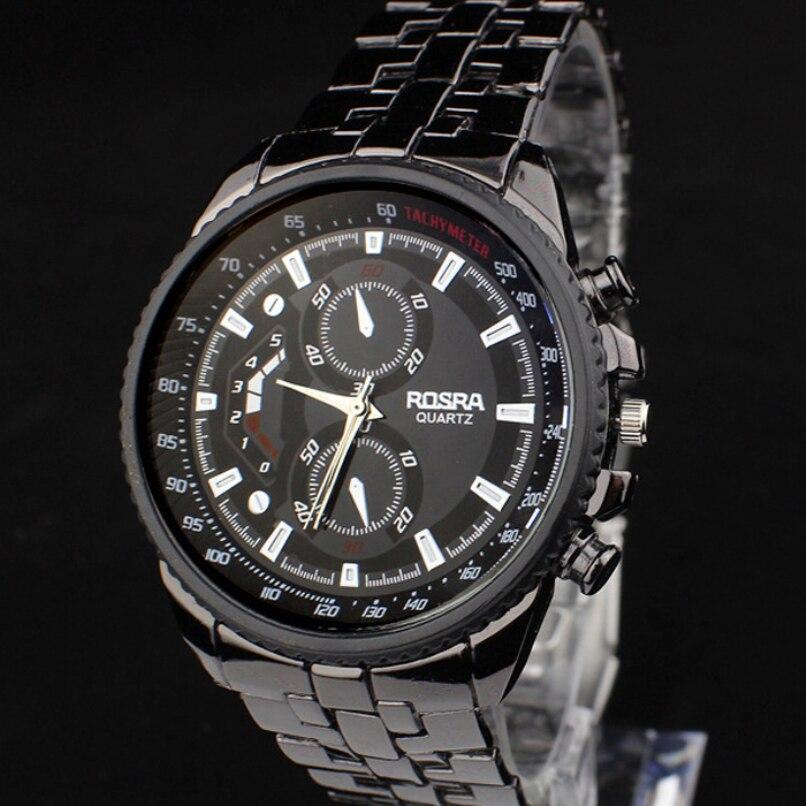 Fashion Men Watches Boutique Stainless Steel Quartz Waterproof Business Sport Clock Jewelry wholesale vF3 2