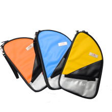Double Fish R Type Table Tennis racket Case Waterproof Table Tennis Racket Bag PU leather colorful personality double tennis racket necklace
