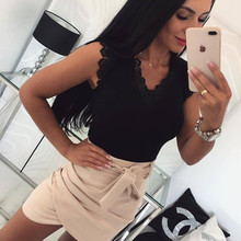 Summer Women Sexy Off Shoulder Lace Bandage T Shirts 2019 New Fashion Casual Slim Solid V Neck Pullover Top Lady Bottoming Shirt