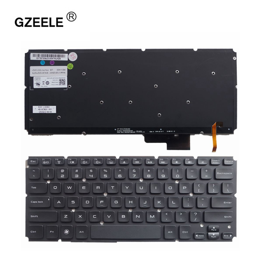 GZEELE For DELL XPS 14 15 XPS14 XPS15 L421X L521X L421 L521 with backlight US Black New English Replace laptop keyboard notebook gzeele uk layout english keyboard for dell inspiron 17r n7110 17r 7110 xps 17 l702x vostro 3750 v3750 laptop keyboard black new
