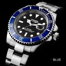 200 м водонепроницаемый дайвинг часы, наберите диаметр 40 мм из нержавеющей стали мужские классические бизнес-календарь, световой кварцевые часы
