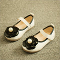 Kids shoes girls shoes beautiful flower pu leather girls dress shoes kids fashion pearl princess single shoes girls