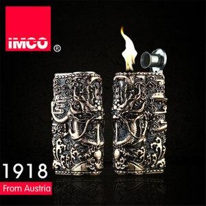 Image 4 - Genuine IMCO Lighter Retro 3D Relief Dragon Gasoline Kerosene Lighter Original Cigarette Lighter Cigar Fire Petrol Lighters