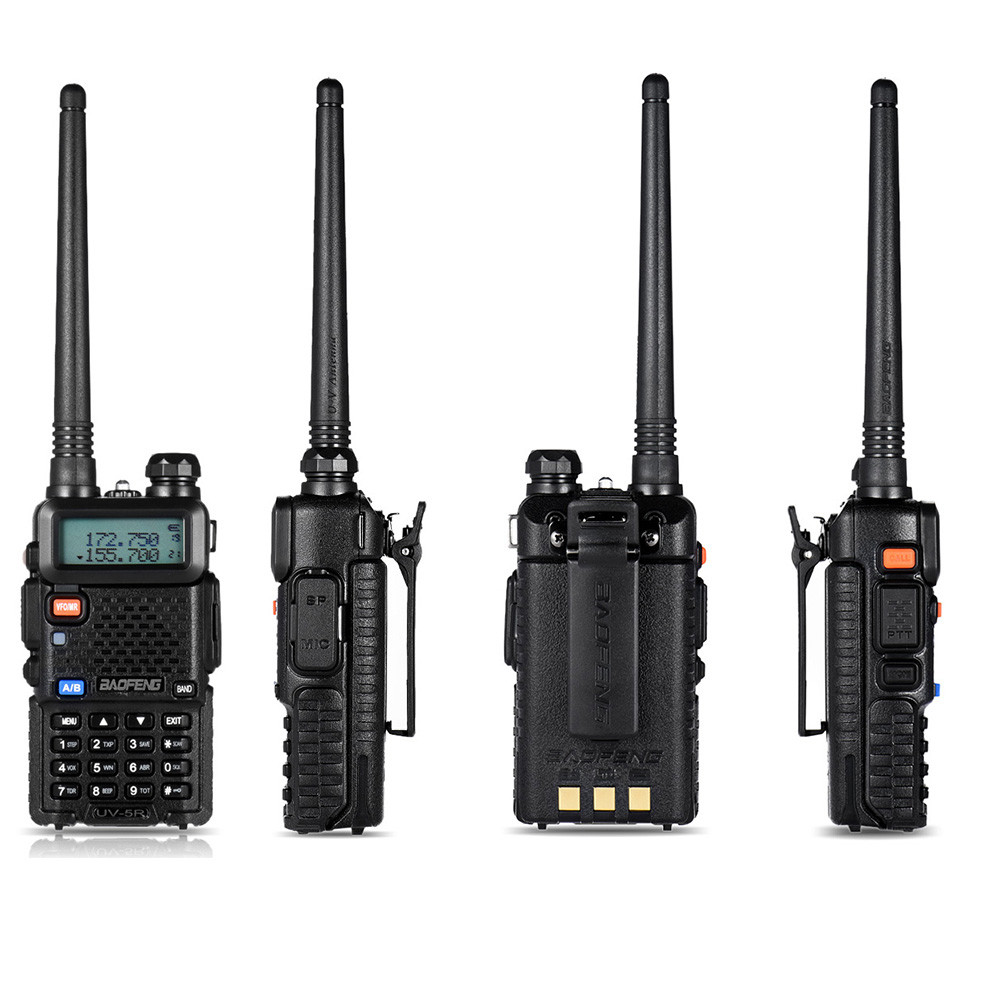 Image 2 - BF UV5R Walkie talkie Manual Frequency Modulation 10KM Communication Distance 5W Power UV Dual frequency Security Walkie Talkie-in Walkie Talkie from Cellphones & Telecommunications