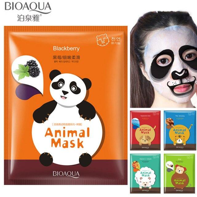 US $1 89  BIOAQUA Animal Moisturizing Face Masks Sheep/Panda/Dog/Tiger  Facial Mask Face Skin Care -in Treatments & Masks from Beauty & Health on
