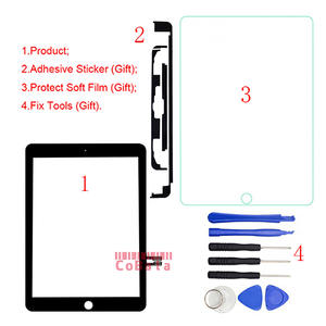 Digitizer Outer-Panel Touch-Screen iPad Gen A1893 Front for 1pcs Glass--Tools Glass--Tools