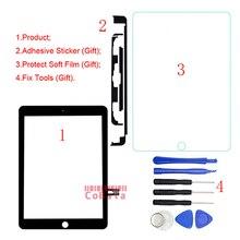 1Pcs עבור iPad 9.7 (2018 גרסה) עבור iPad 6 6th Gen A1893 A1954 מגע Digitizer מסך קדמי חיצוני זכוכית לוח + כלים
