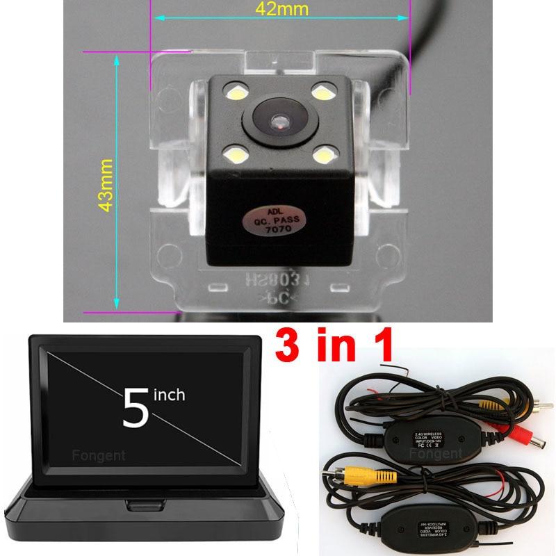 For Mitsubishi Outlander XL Citroen C-Crosser Peugeot 4007 Vehicle Rear View Reverse Parking Backup Wireless Monitor Car Camera