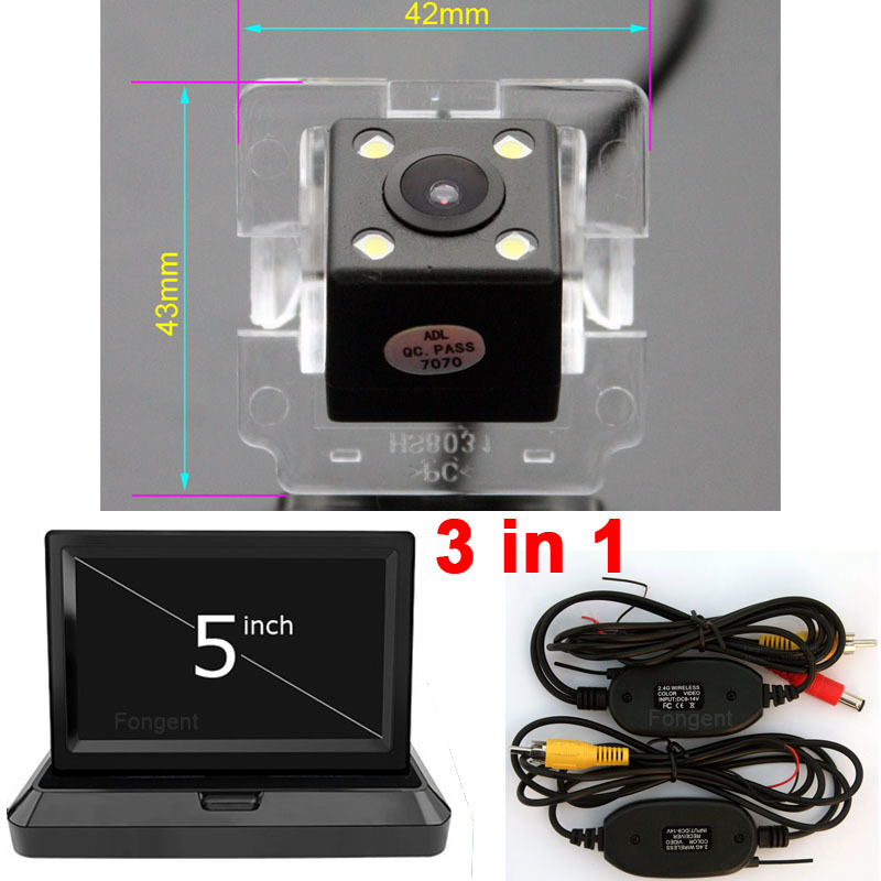 For Mitsubishi Outlander XL Citroen C-Crosser <font><b>Peugeot</b></font> <font><b>4007</b></font> Vehicle Rear View Reverse Parking Backup Wireless Monitor Car Camera image