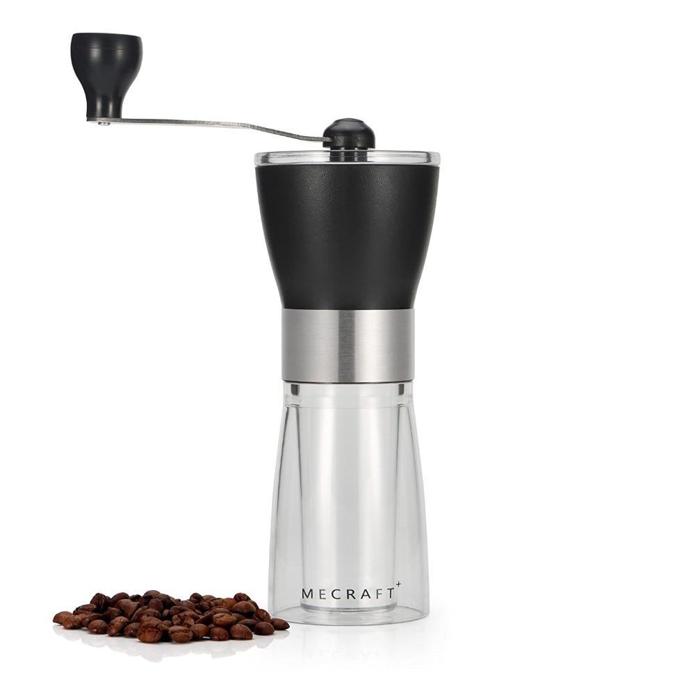 Manuelle Kaffeemühle, Hand Kurbel Keramik Konische Einstellbare Grat Mühle Abs + Pc Material Edelstahl Keramik Core Küche