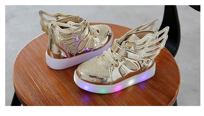 17 Autumn Kids LED luminous Sneakers Glowing Brand Child Breathable Light Flashing Baby Boys Casual Shoes for girl size 21~30 4