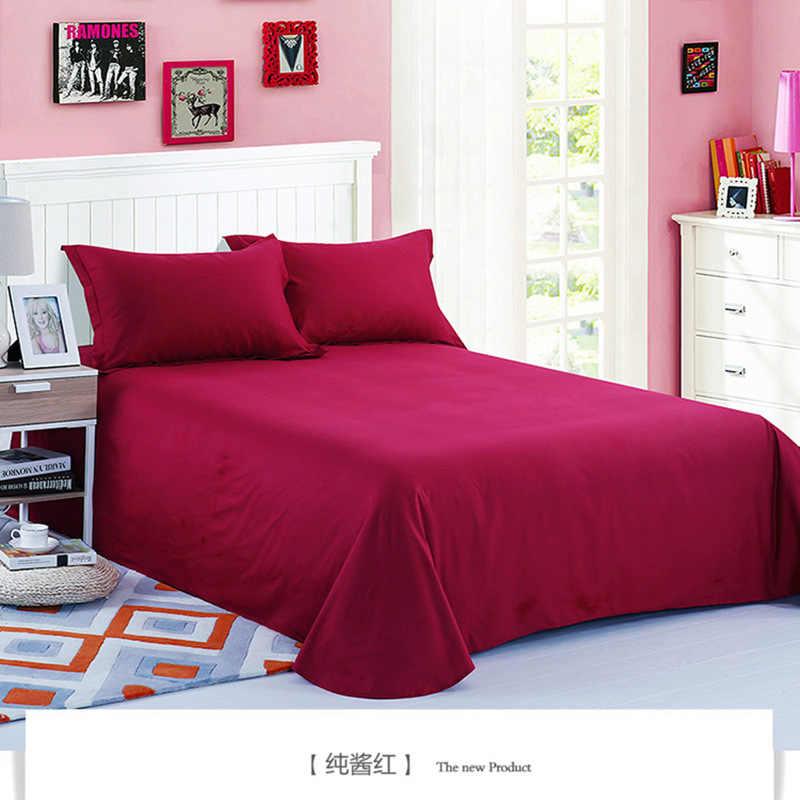 1 шт 100% хлопок розовый цвет плоский лист для детей взрослых Одиночная двойная саржа кровать плоские простыни XF632-2