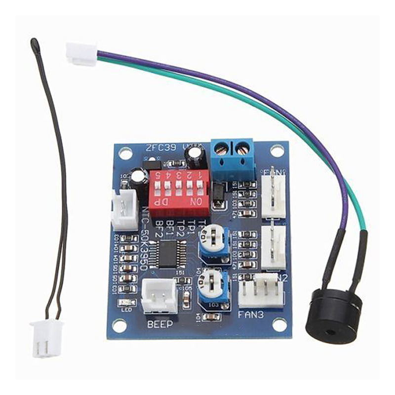12V PWM PC CPU Fan Speed Controller Temperature Control Board  5A
